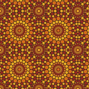 Totally Circular | warm colors on brown