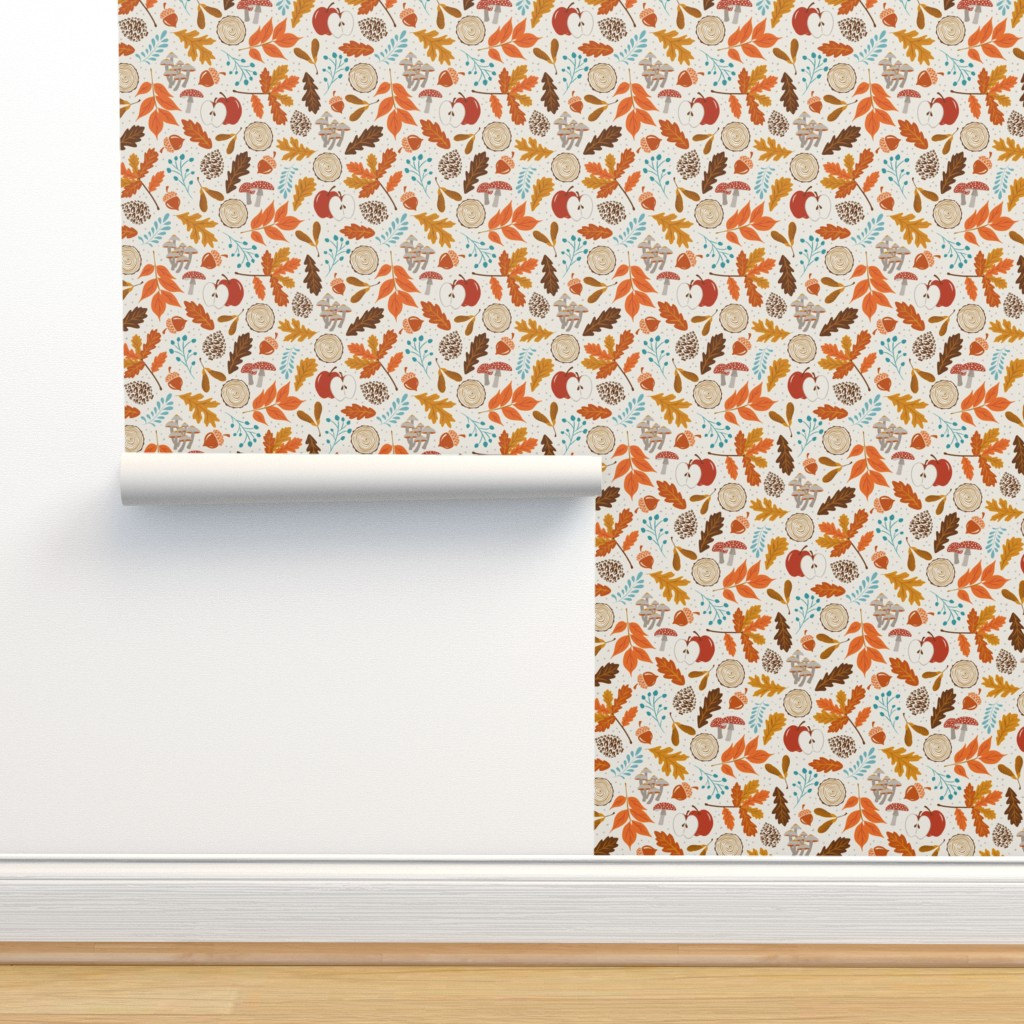Isobar Durable Wallpaper featuring Autumn Woods - Small Scale by heatherdutton