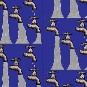 OB_11121_B Four Running Water Spigots on Royal Blue