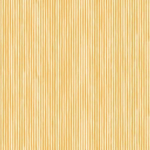 Vertical Watercolor Mini Stripes M+M Honey by Friztin