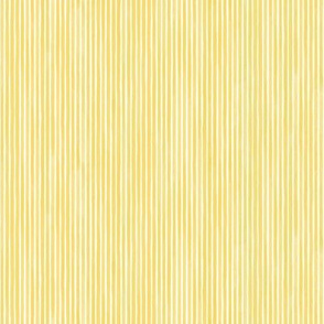 Vertical Watercolor Mini Stripes M+M Yolk by Friztin