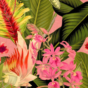 Palm In Palm ~ Floral Fantastico ~ Duchess and Berry Linen Luxe