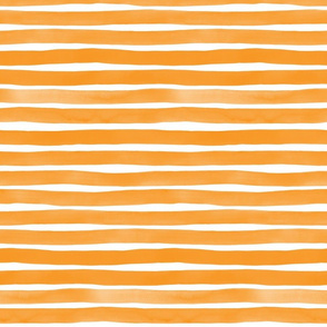 Watercolor Stripes M+M Persimmon by Friztin