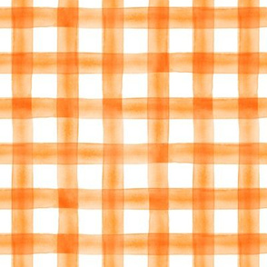 "(3/4"") watercolor plaid    orange"