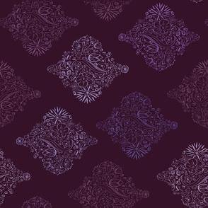 Horizontal Flowerly Tiles in purple