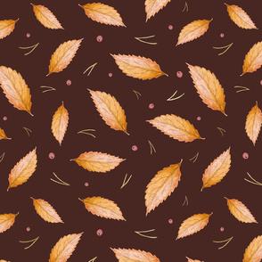 Autumn Leaves (on dark)