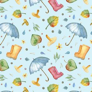 Rainy Day (on blue)