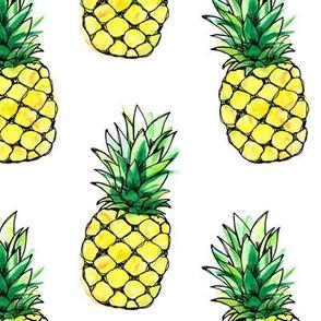 Pineapples watercolor