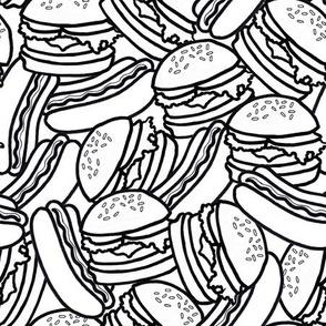hotdogs and burgers