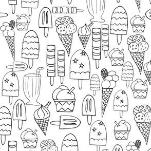 Ice Cream Feast on  a summer day