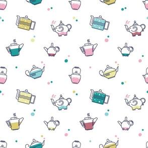Want Some Tea? (pastel on white)