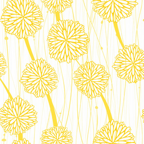 Pom Poms - Large White + Yellow  by Friztin