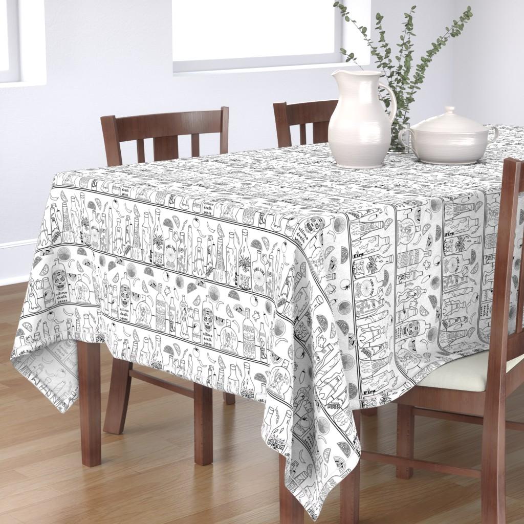 Bantam Rectangular Tablecloth featuring Some like it hot! by stasiajahadi