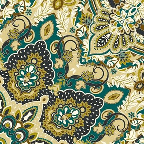 paisley-kaleidoscope-floral-leaf-symmetry-green-olive