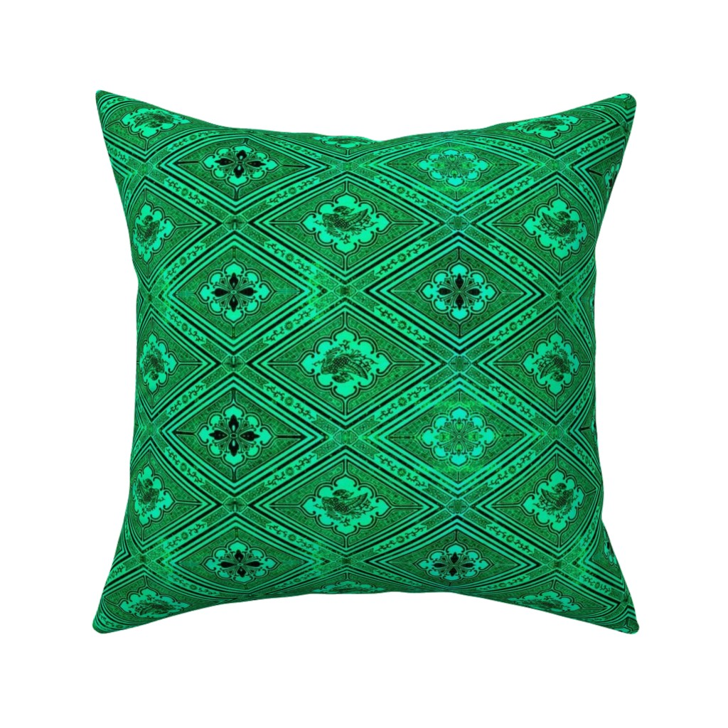 Catalan Throw Pillow featuring japonaise 98 by hypersphere
