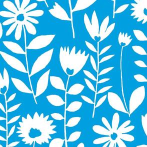 cutout flower (white on blue)