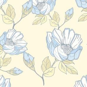 Vintage rose-blue