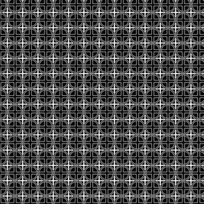 Mini Circle Cross on Black