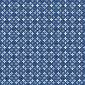 Mini Greek Crosses on Blue