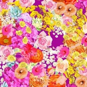 Bright Summer Floral // Fuchsia