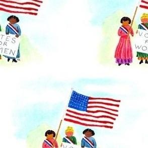 Watercolor suffragettes