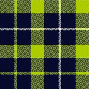 """Davidson of Tulloch tartan, 9"""" lime-navy variant"""