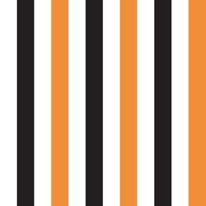"1/2 in. ""Halloween Stripe"" (Vertical Stripes in Black and Orange)"