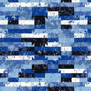 Blue geometric stripes 18_0074