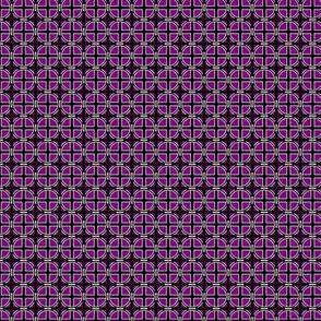 Mini Circle Cross on Purple