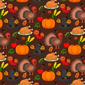 Happy Thanksgiving autumn harvest holiday background