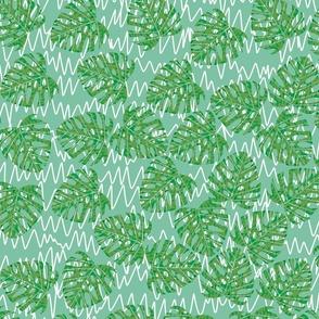 mossy palms