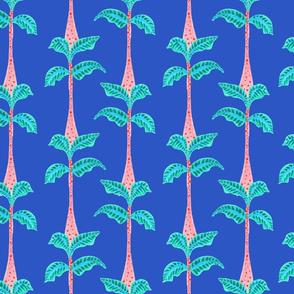 arbres bleu