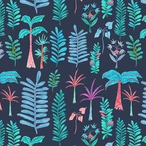 forêt bleu foncé