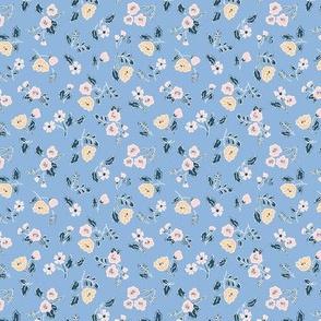 Sprinkled Flowers light blue