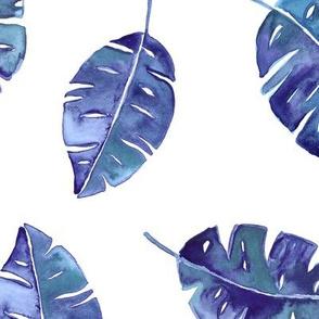 Indigo leaves watercolor