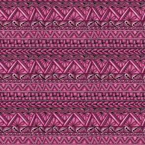 Zen stripes horizontal hot pink