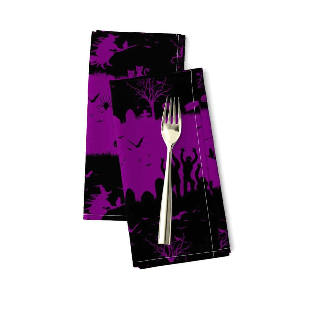 Amarela Dinner Napkins featuring Purple Zombie by paper_and_frill