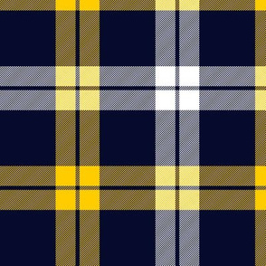 Campbell of Loch Awe tartan, yellow-navy variant, 6""