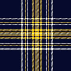 Stuart/Stewart tartan, custom yellow-navy variant