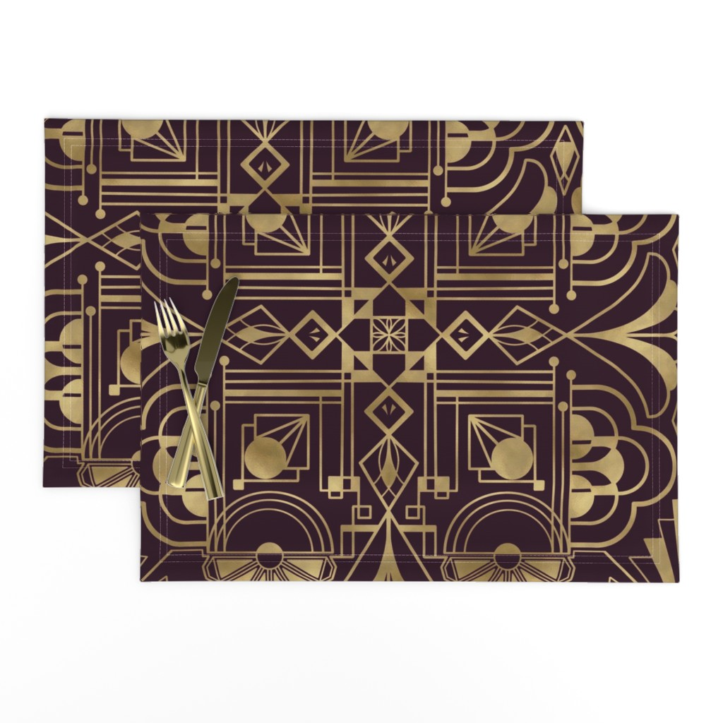 Lamona Cloth Placemats featuring Glamorous 1920's - large by new_branch_studio