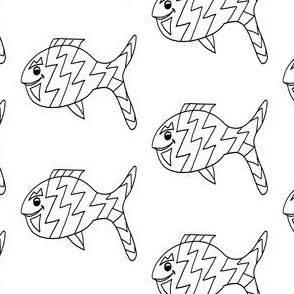 """FI_7541__L """"Stay Out of My Way Fish"""" black and white"""