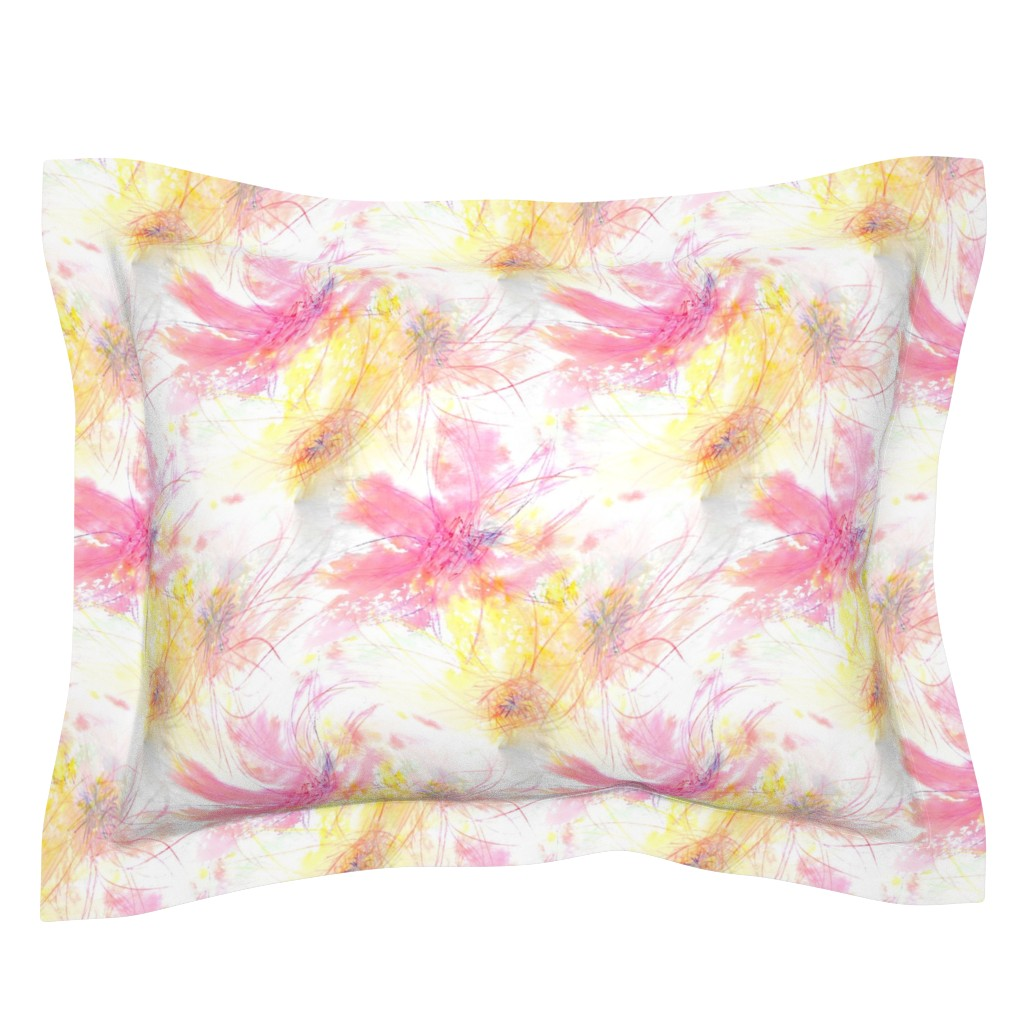 Sebright Pillow Sham featuring Pastel Petals by atlas_&_tootsie