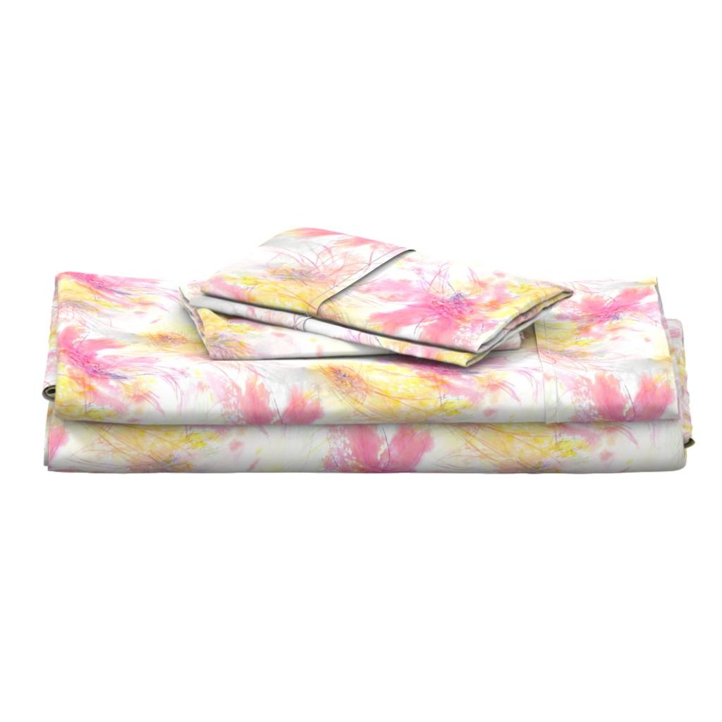 Langshan Full Bed Set featuring Pastel Petals by atlas_&_tootsie