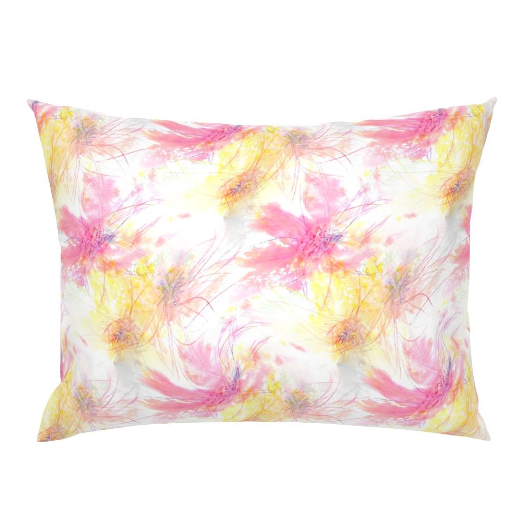 Campine Pillow Sham featuring Pastel Petals by atlas_&_tootsie
