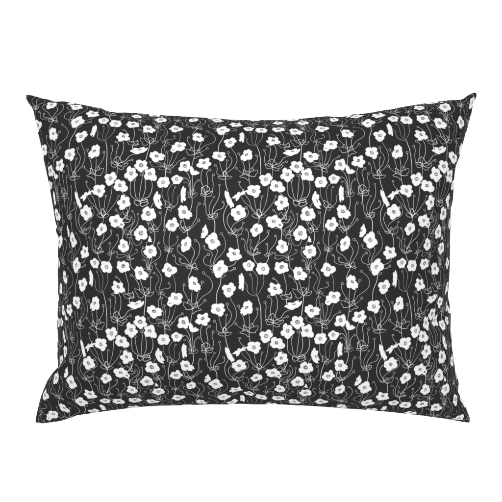 Campine Pillow Sham featuring Japanese Anemone by karina_love