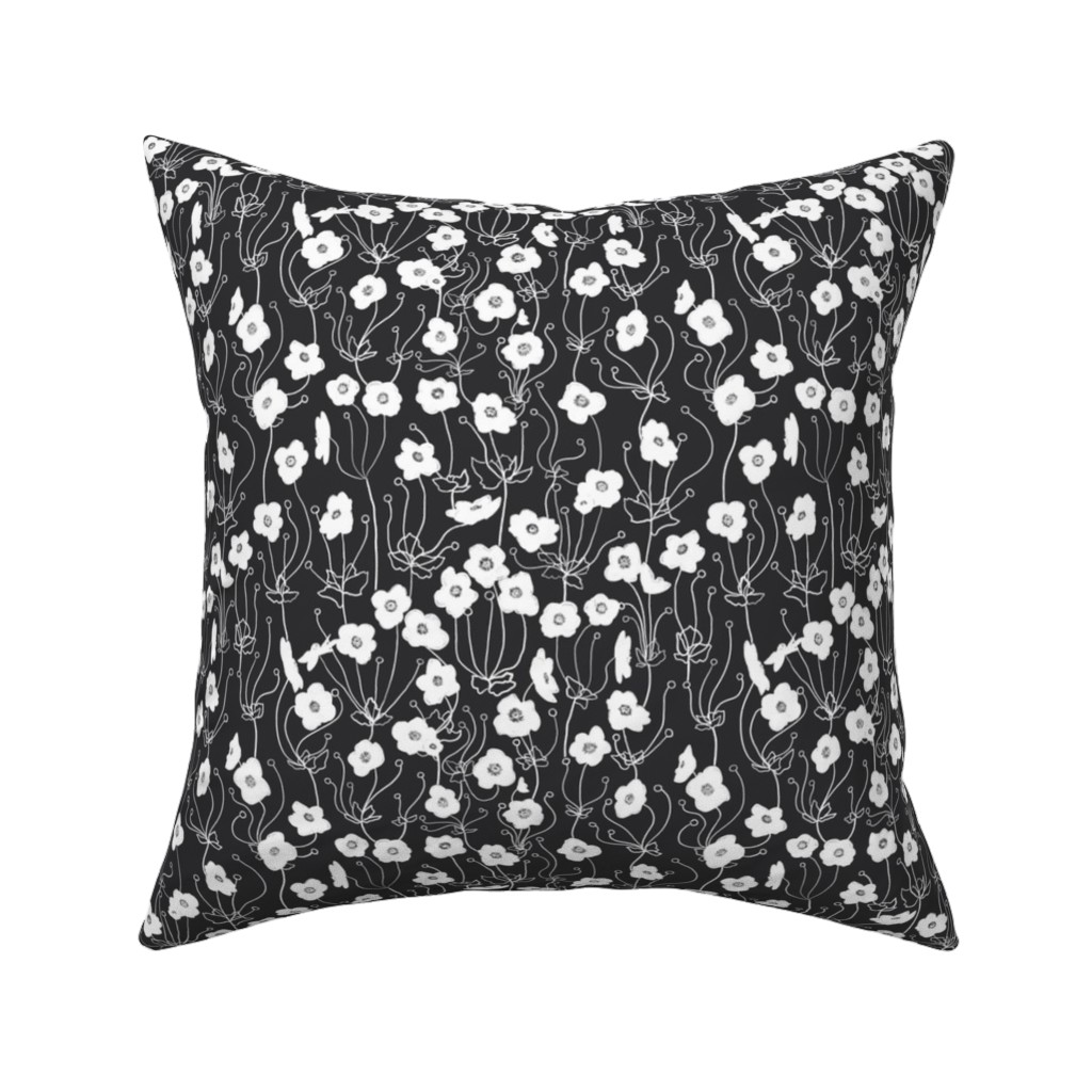 Catalan Throw Pillow featuring Japanese Anemone by karina_love