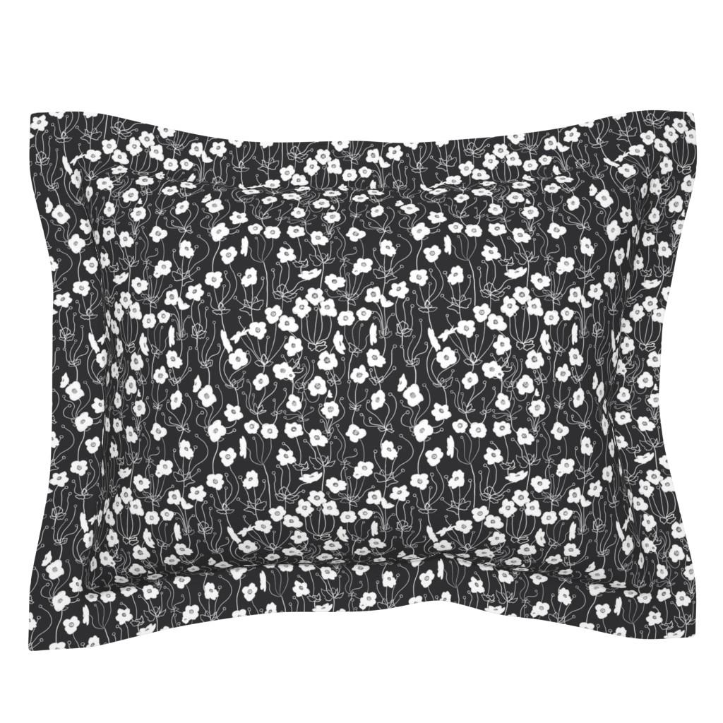 Sebright Pillow Sham featuring Japanese Anemone by karina_love
