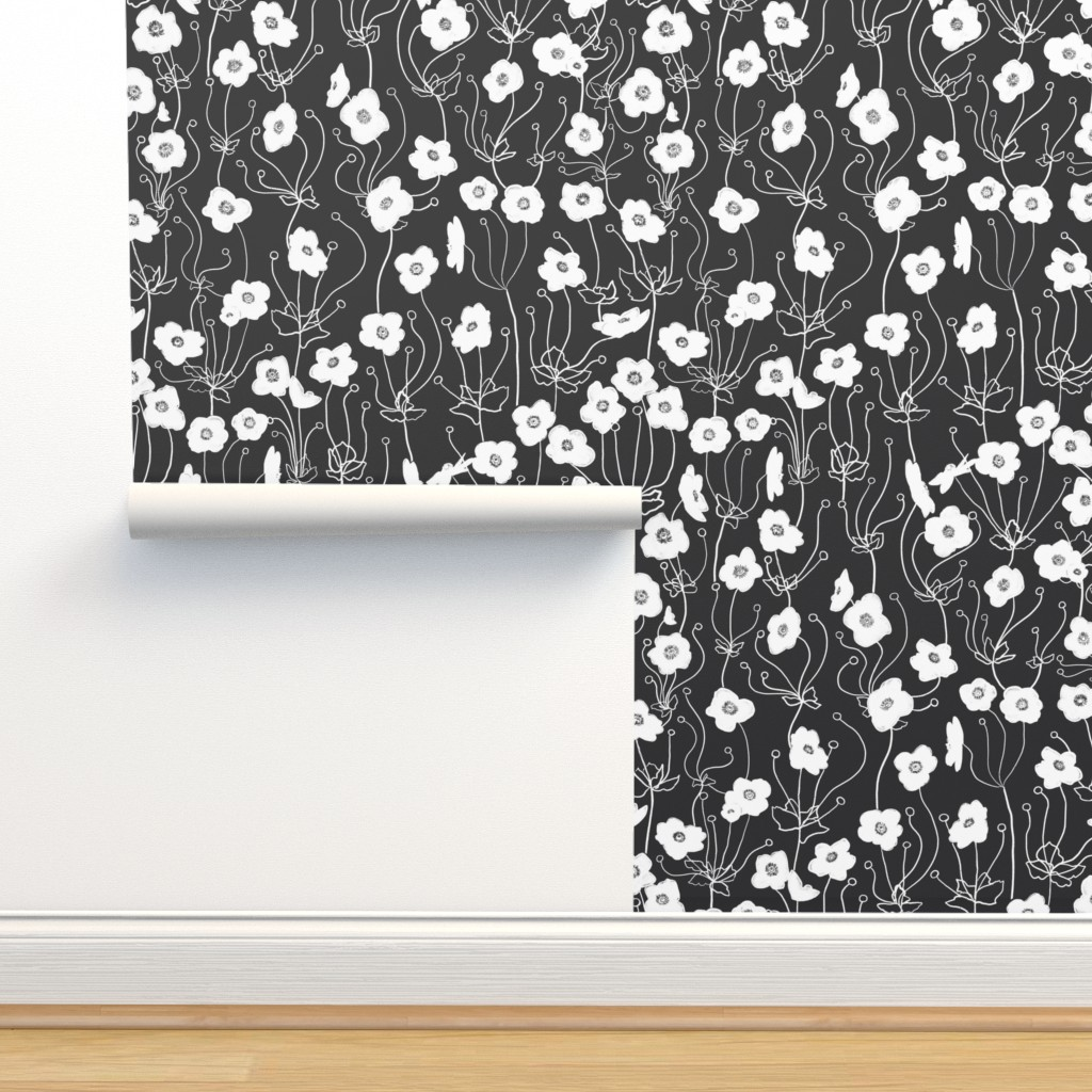 Isobar Durable Wallpaper featuring Japanese Anemone by karina_love