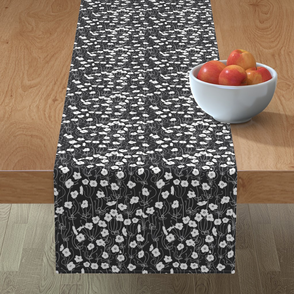 Minorca Table Runner featuring Japanese Anemone by karina_love