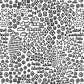 Geometric Hand Drawn Shapes